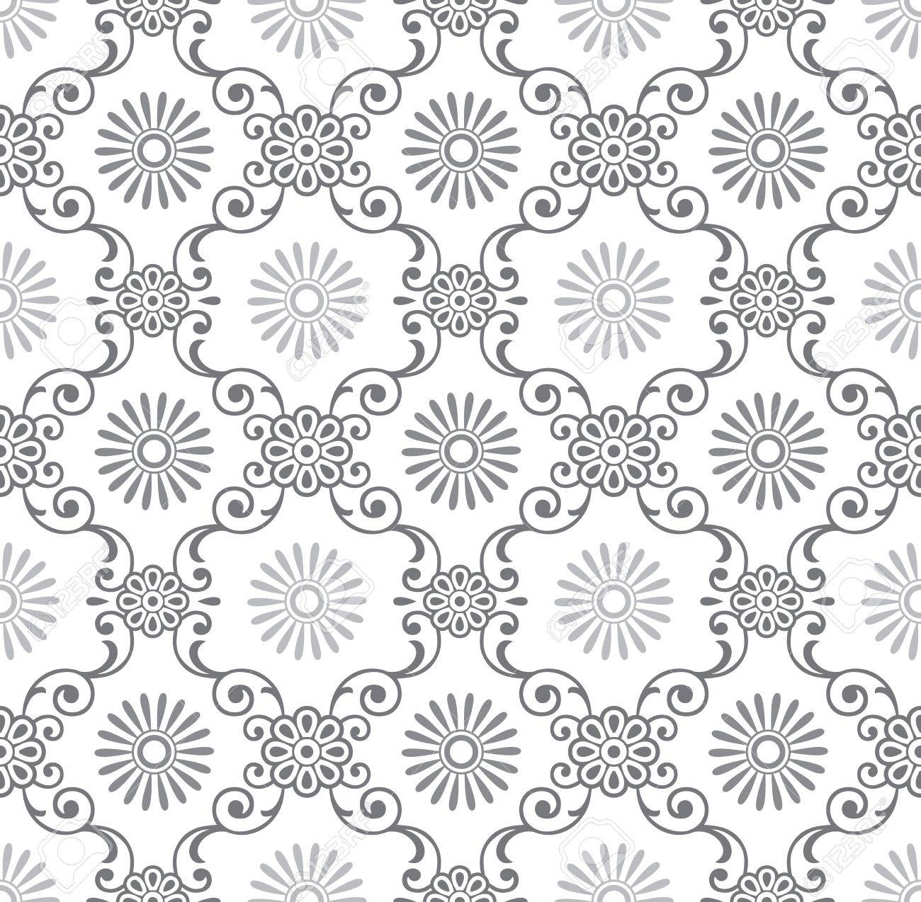 Seamless fancy floral wallpaper Stock Vector - 19882738