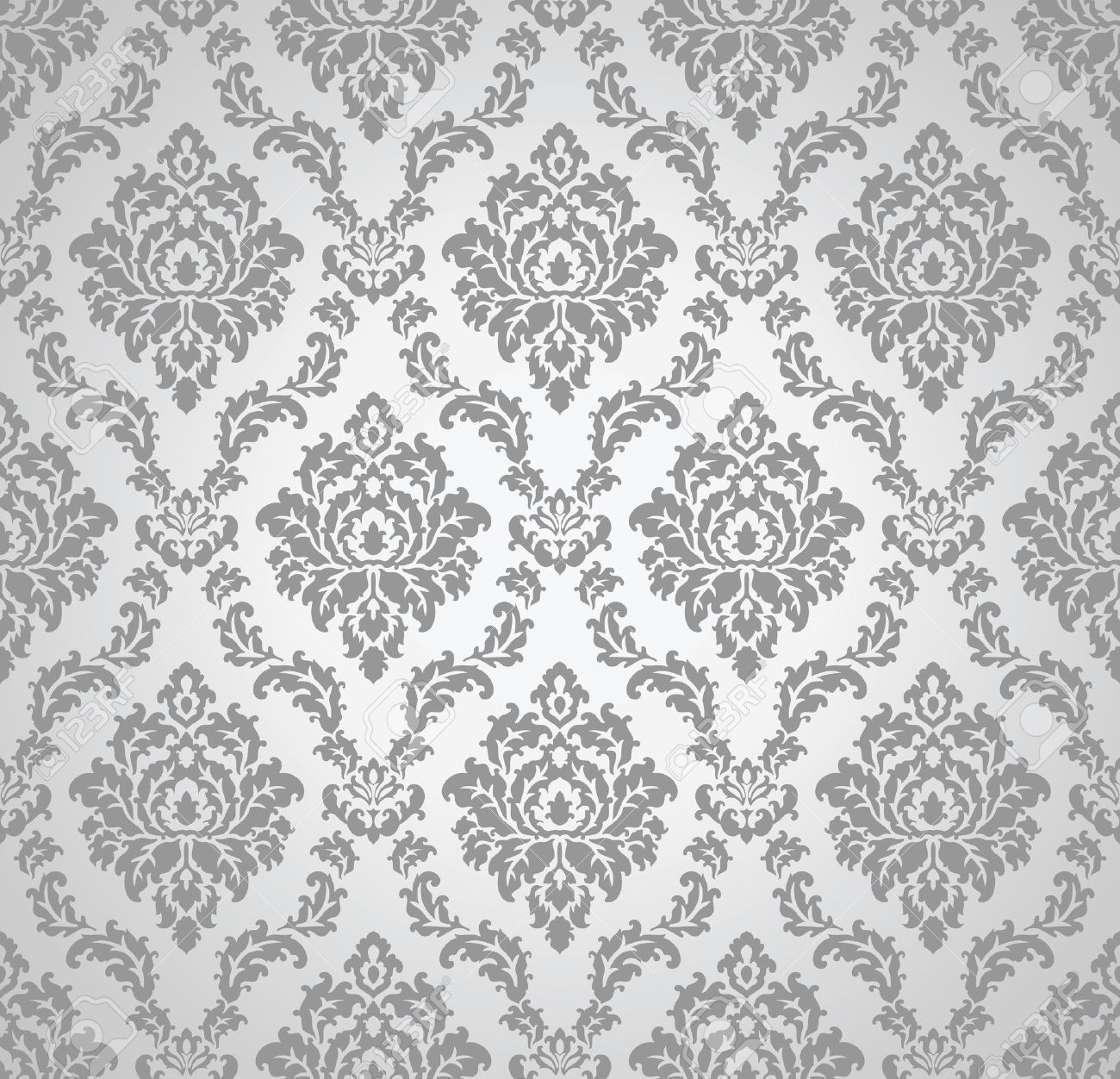 Seamless damask wallpaper Stock Vector   19882716. Seamless Damask Wallpaper Royalty Free Cliparts  Vectors  And
