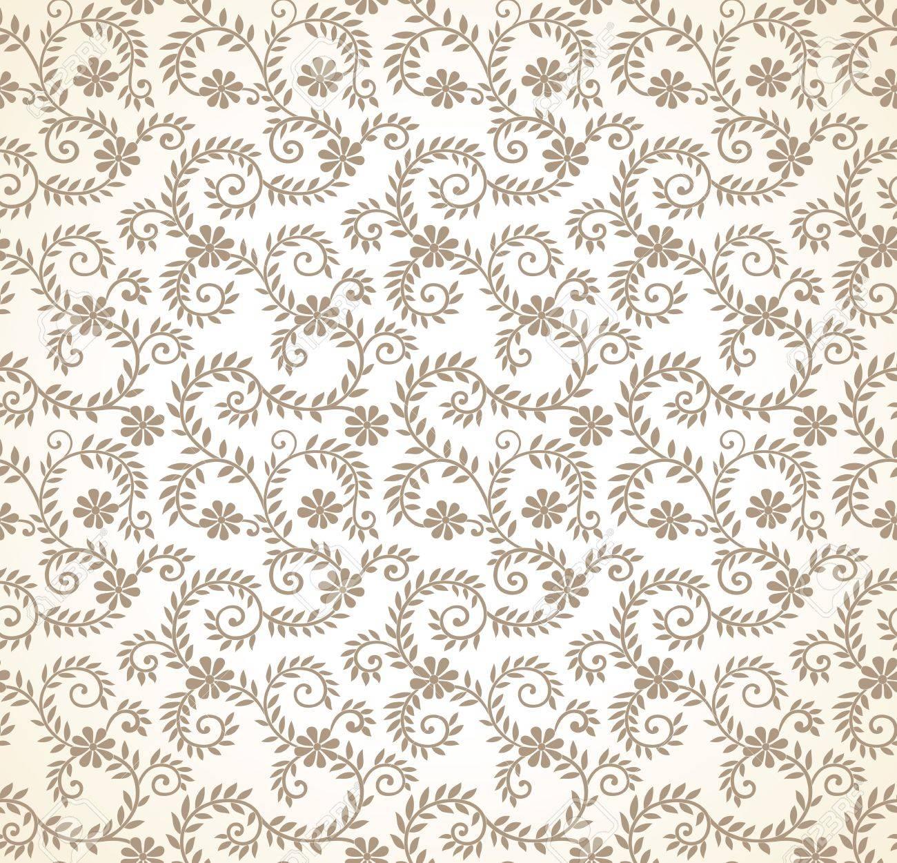 Seamless golden flourish vector wallpaper Stock Vector - 20874320