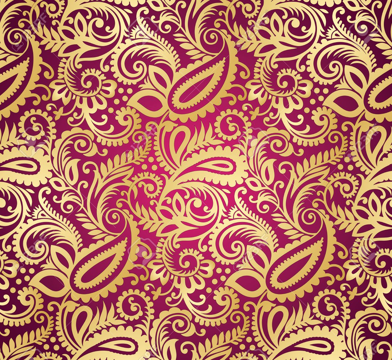 Paisley seamless wallpaper Stock Vector - 20995676