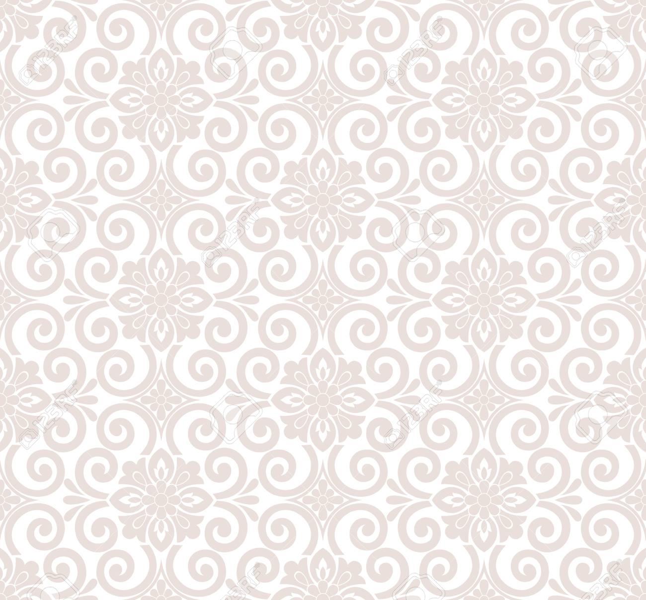 Designer seamless floral wallpaper Stock Vector - 26055776