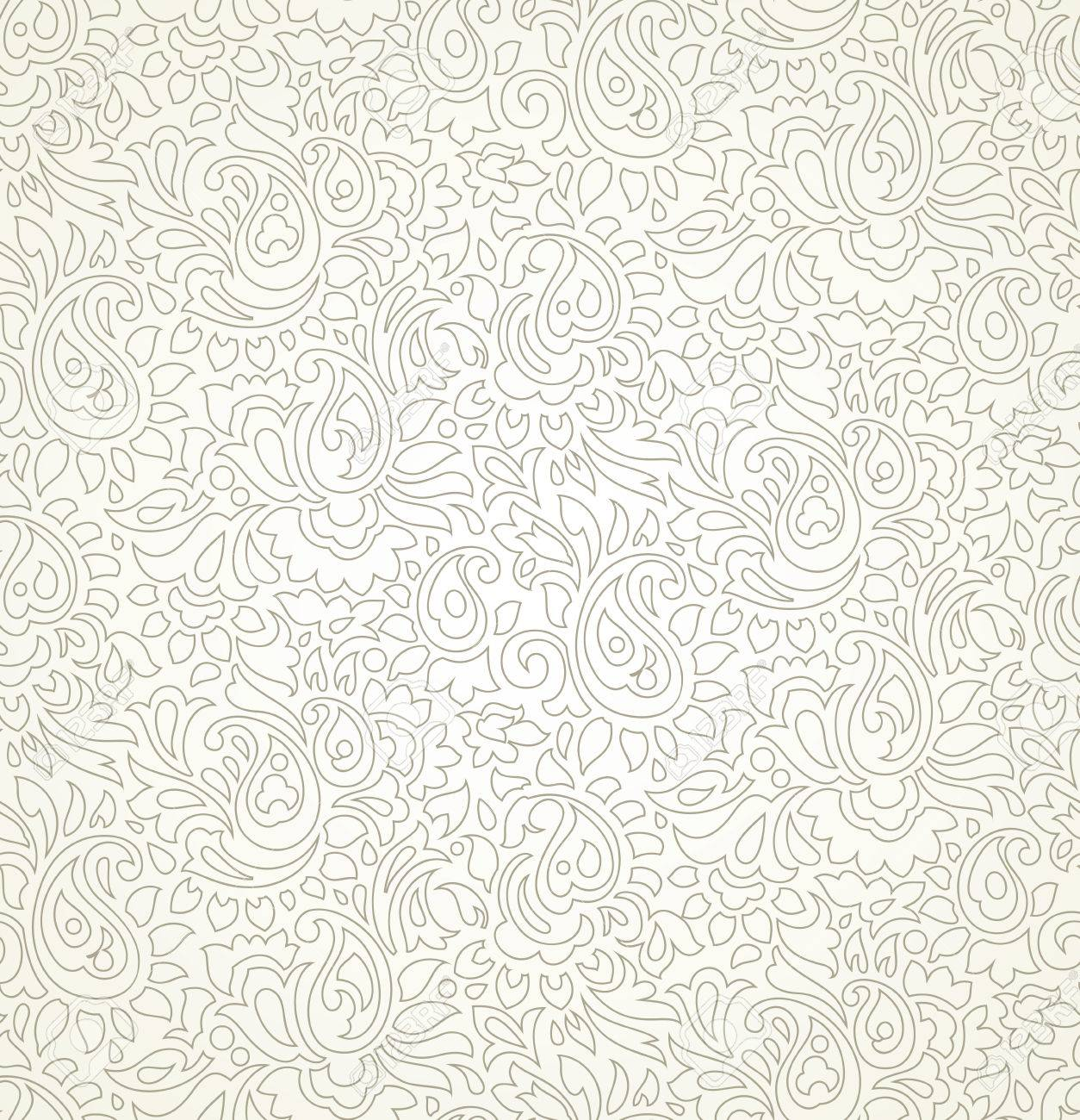 Paisley Seamless Wedding Card Background Royalty Free Cliparts