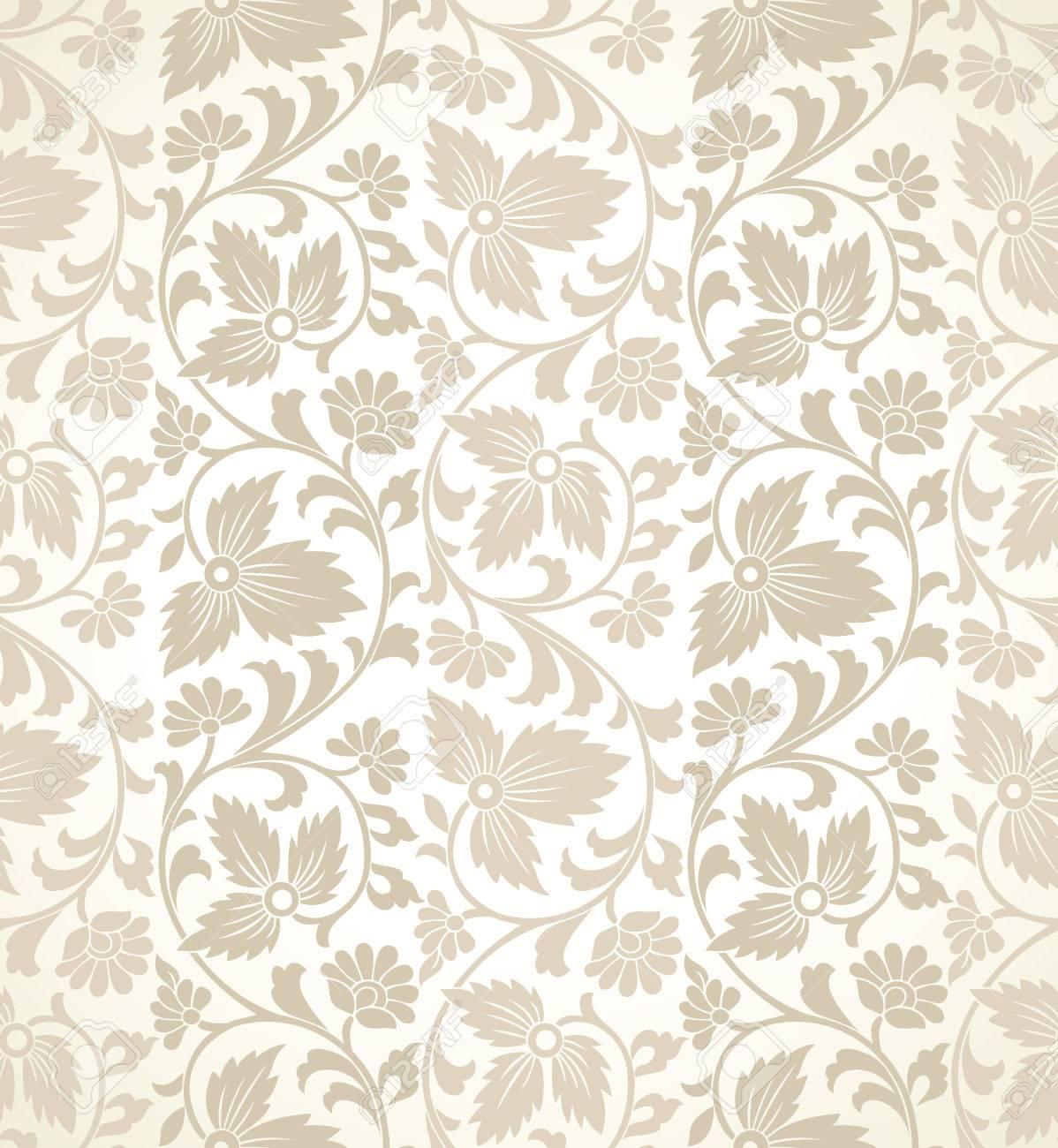 Traditional Floral Vector Wallpaper Royalty Free Cliparts Vectors