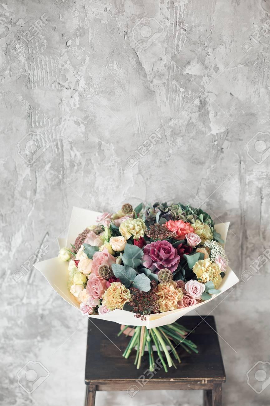 Bouquet in foamiran paper a simple bouquet of flowers and greens bouquet in foamiran paper a simple bouquet of flowers and greens stock photo 86203599 izmirmasajfo