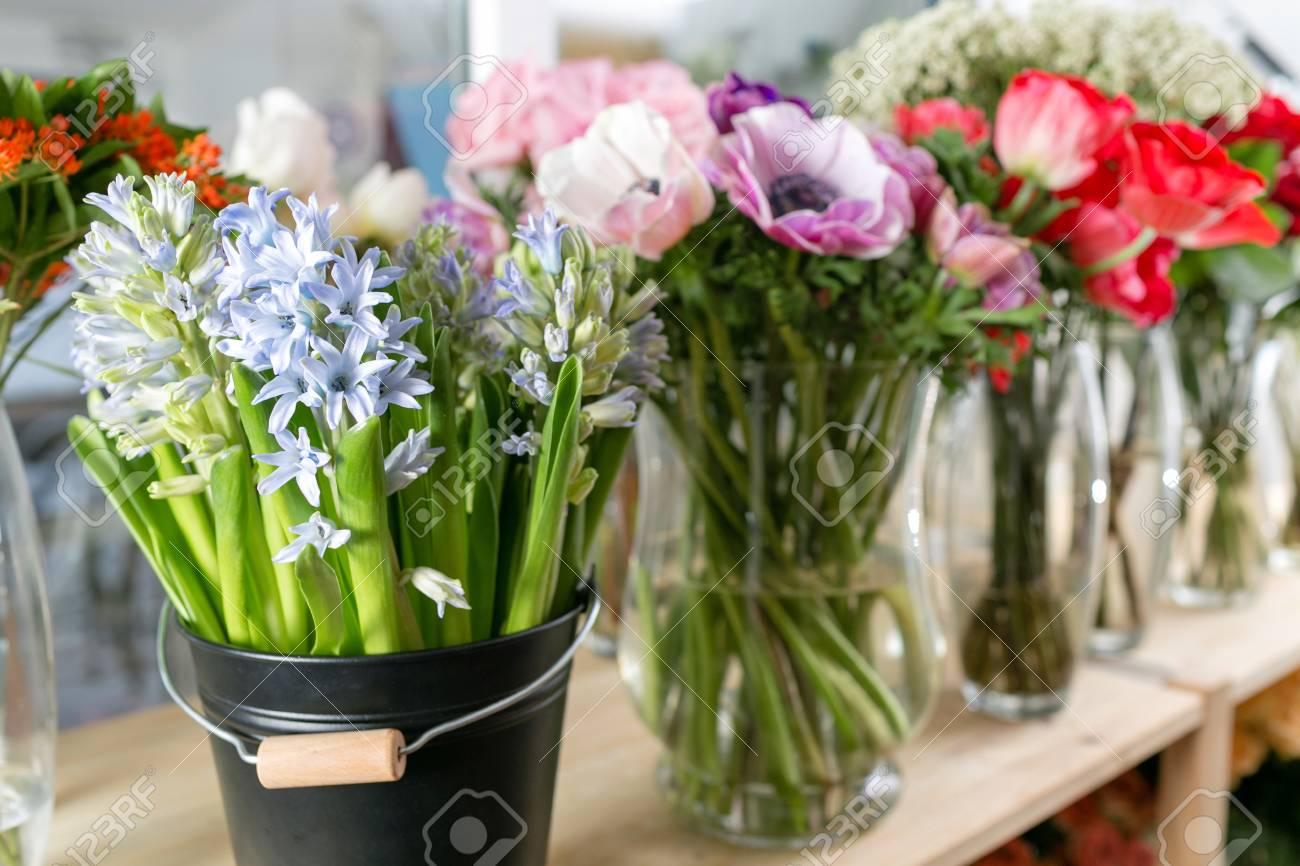 Different varieties fresh spring flowers in refrigerator for fresh spring flowers in refrigerator for flowers in flower shop bouquets on mightylinksfo