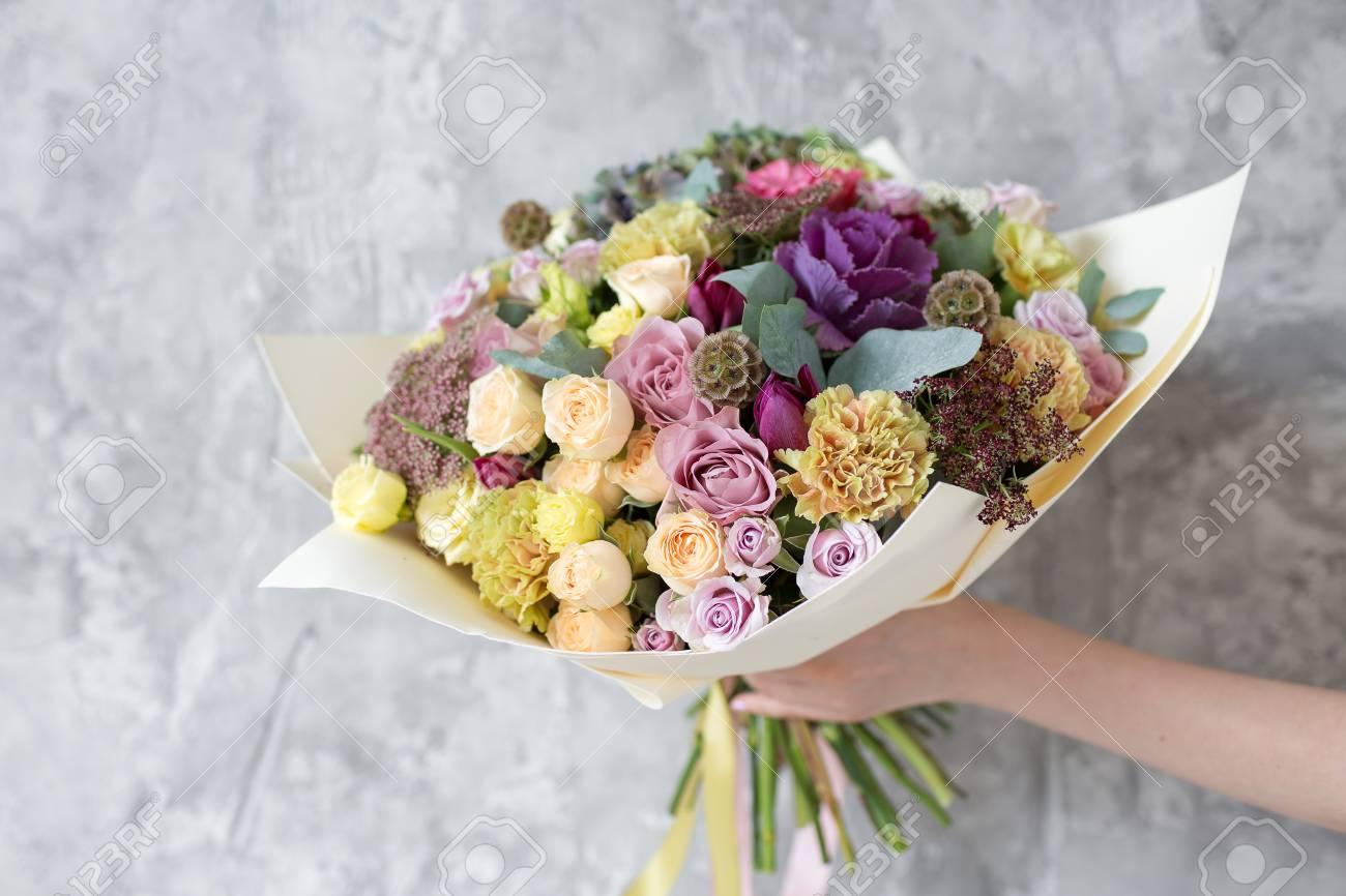 Bouquet in foamiran paper a simple bouquet of flowers and greens bouquet in foamiran paper a simple bouquet of flowers and greens stock photo 94420665 izmirmasajfo