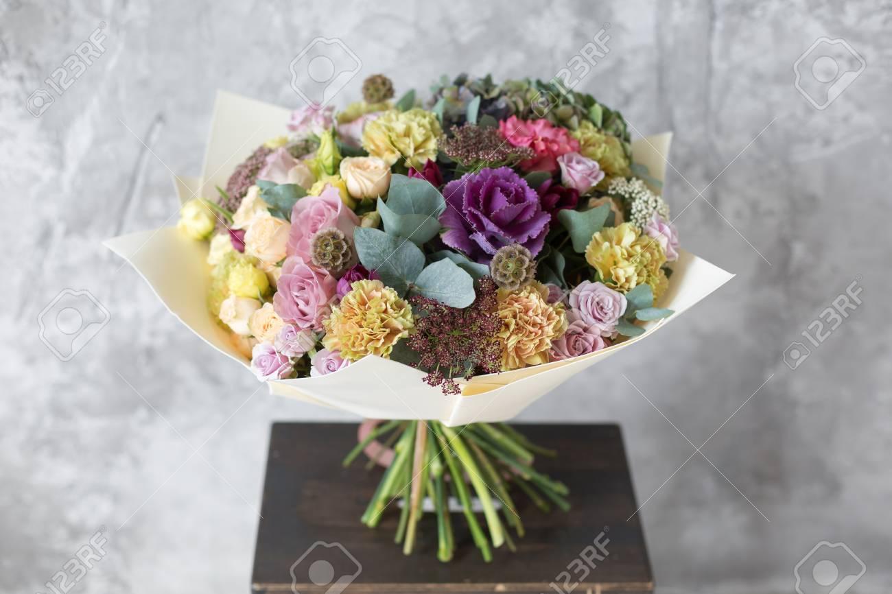Bouquet in foamiran paper a simple bouquet of flowers and greens bouquet in foamiran paper a simple bouquet of flowers and greens stock photo 94420666 izmirmasajfo