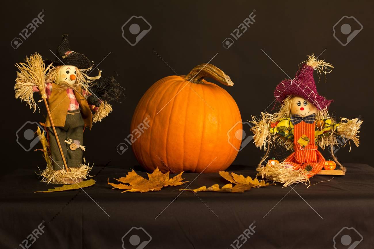 Halloween. Autumn Still Life. Standard-Bild - 44514219