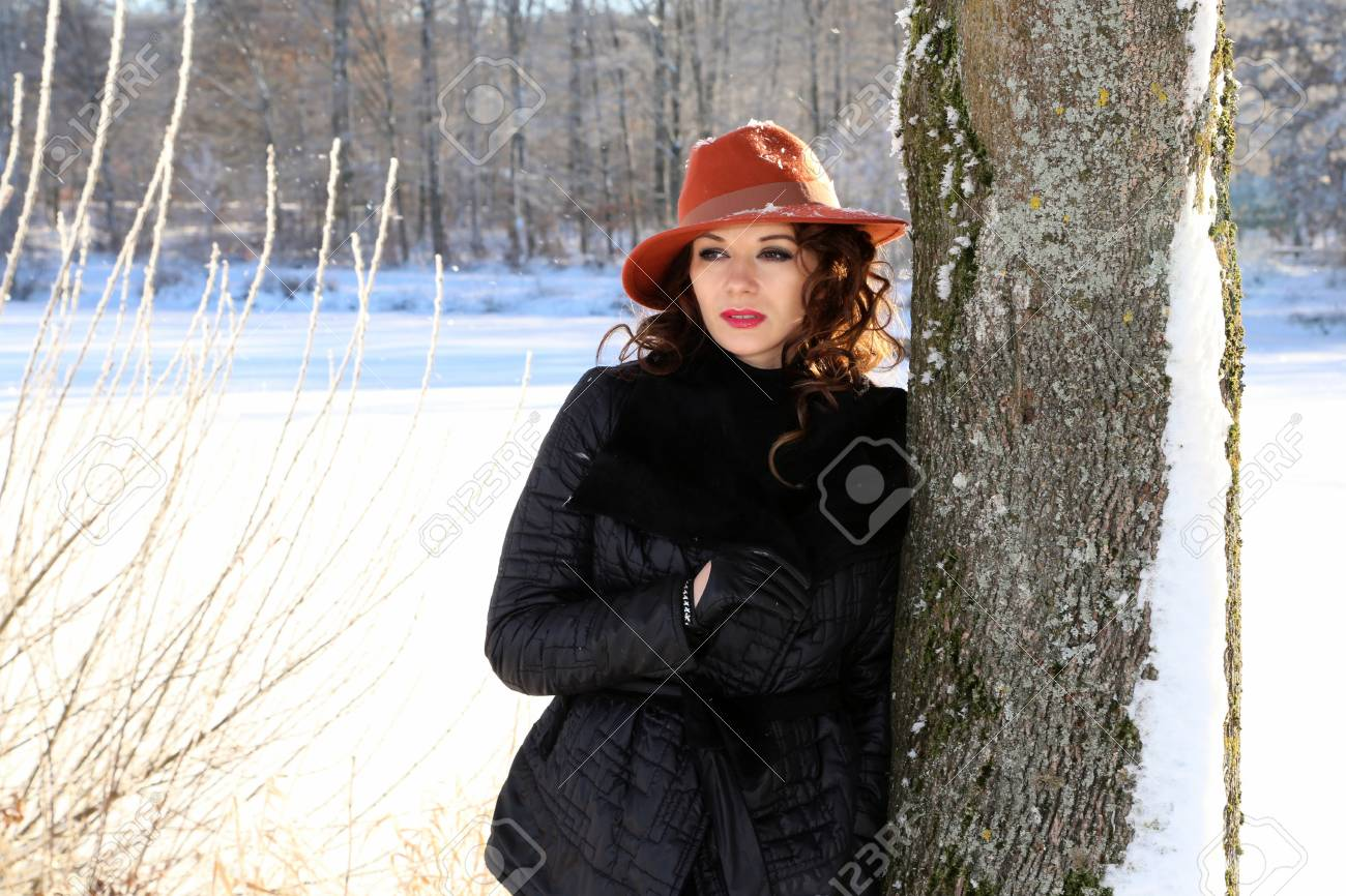 Portrait Of A Young Girl Winter Photoshoot Stock Photo Picture And Royalty Free Image Image 110644969