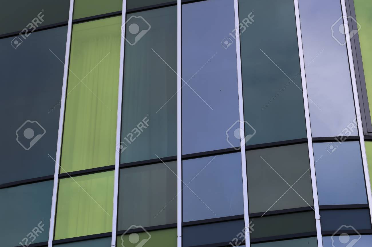 Reflection in the windows of a modern building Standard-Bild - 93127857
