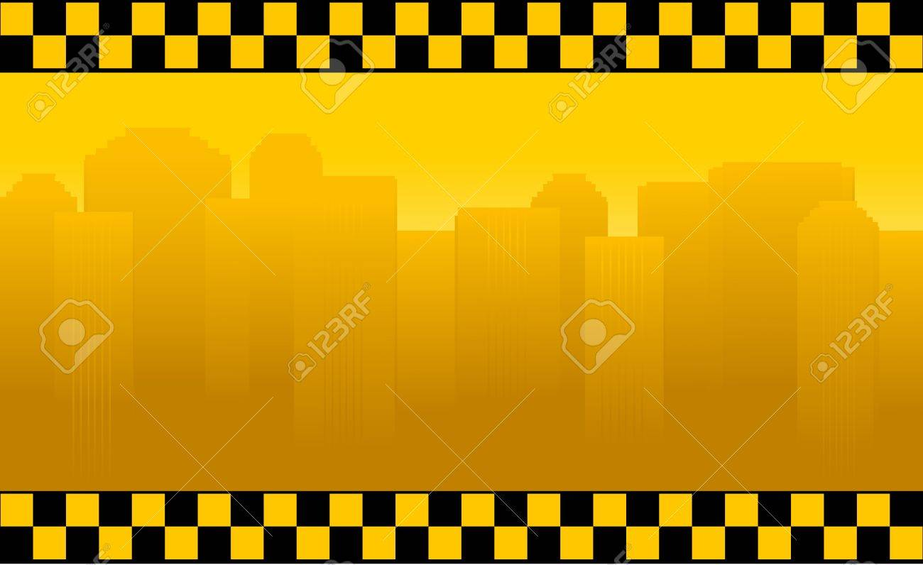 transport background with taxi sign and office building Stock Vector - 13921929