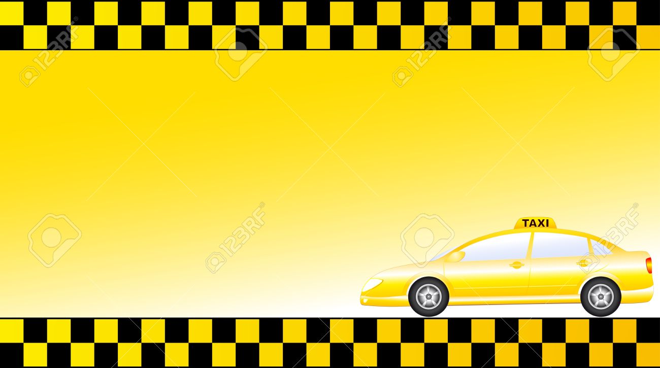 Business card with glossy modern taxi car and space for text business card with glossy modern taxi car and space for text stock vector 14845465 reheart Choice Image