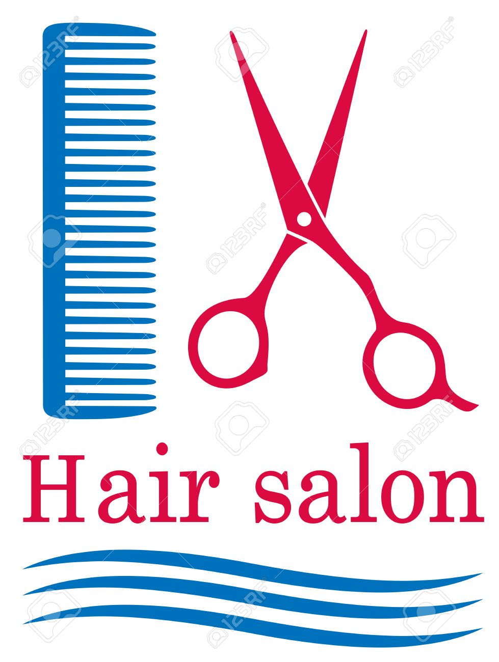 Blue symbol of barbershop with hair and scissors royalty free blue symbol of barbershop with hair and scissors stock vector 21984936 biocorpaavc