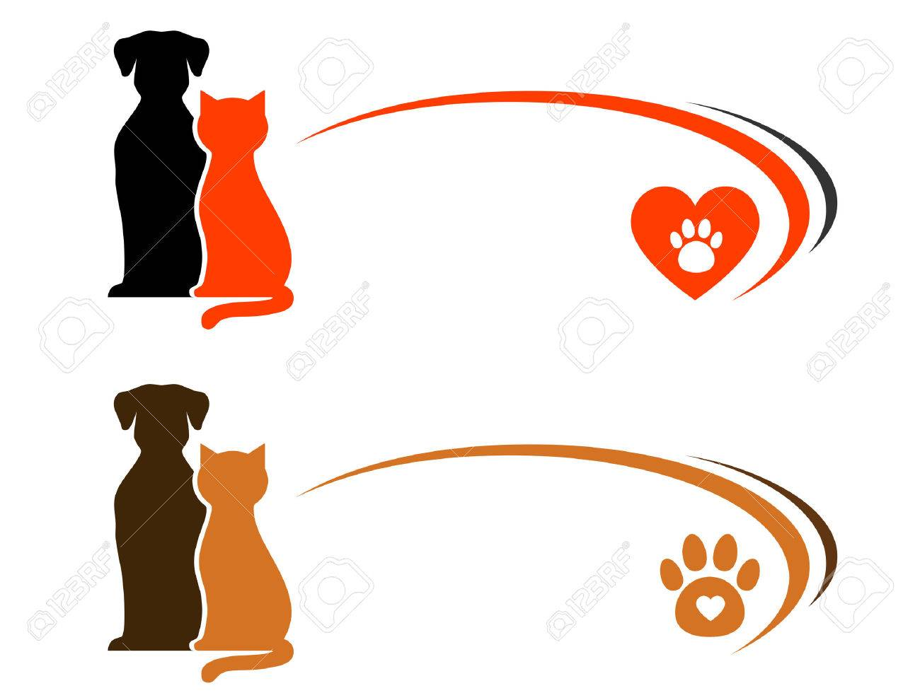 pet shop advertising with place for text and heart with paw Stock Vector - 22718937