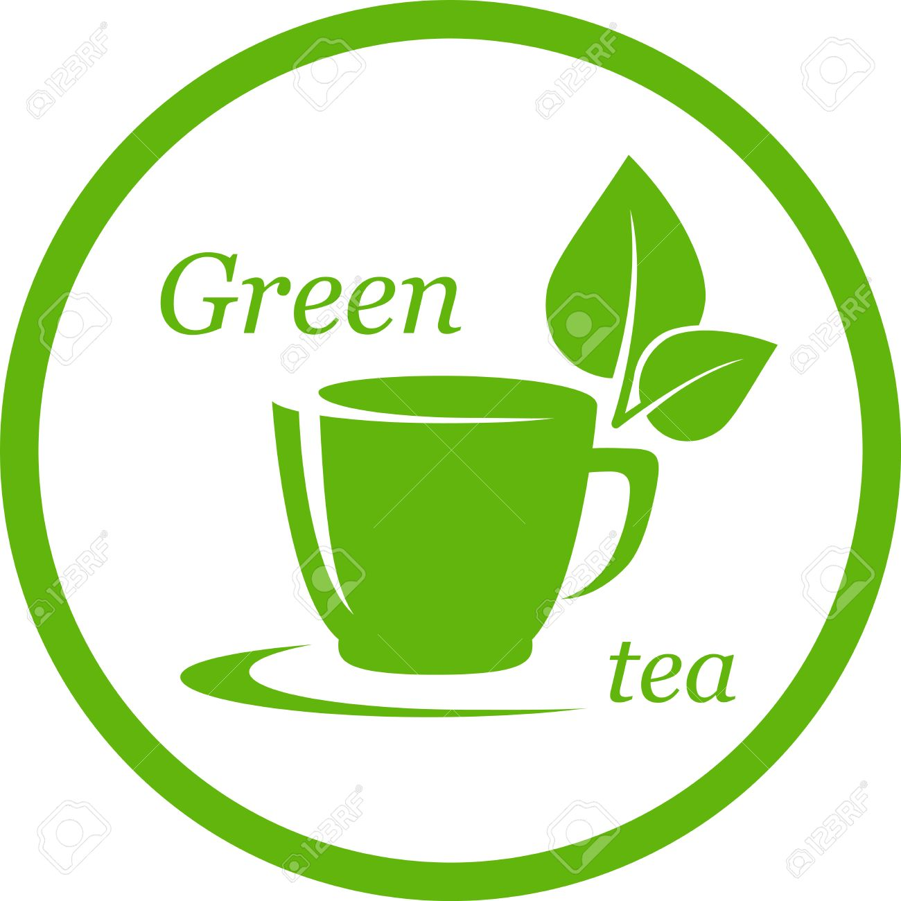 Leaf Icon Green Tea Icon With Leaf in