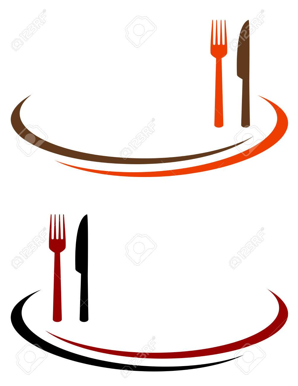 restaurant background with cutlery and place for text - 33871460