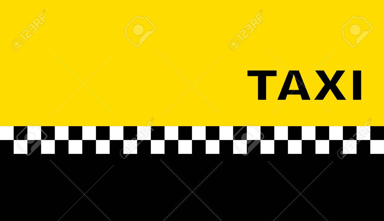 Yellow Graphic Background With Taxi Business Card Royalty Free ...
