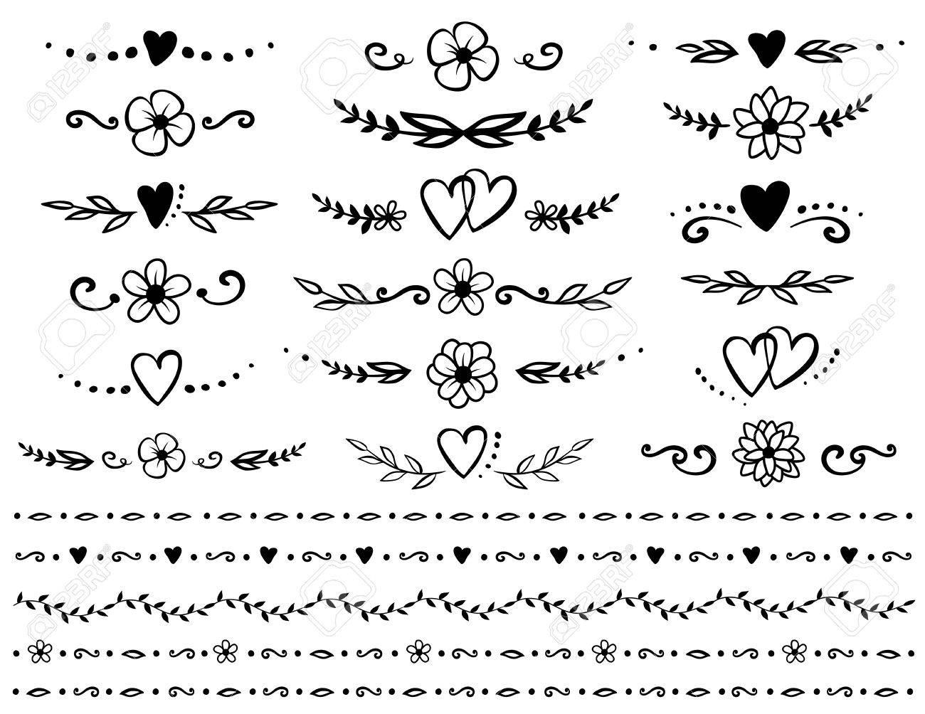 set of floral design elements - 70946525