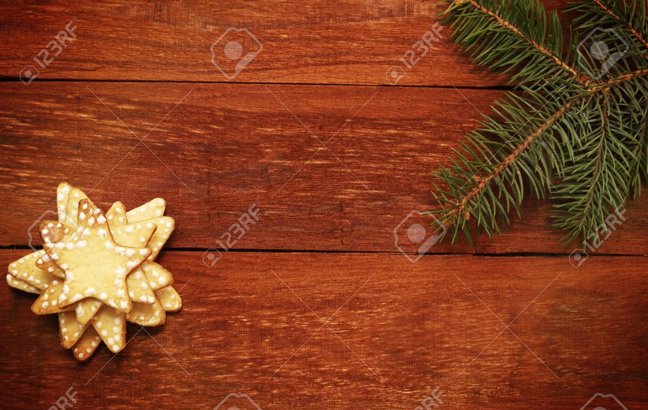 Navidad del pan de jengibre galletas en forma de estrella Foto de archivo - 16666562