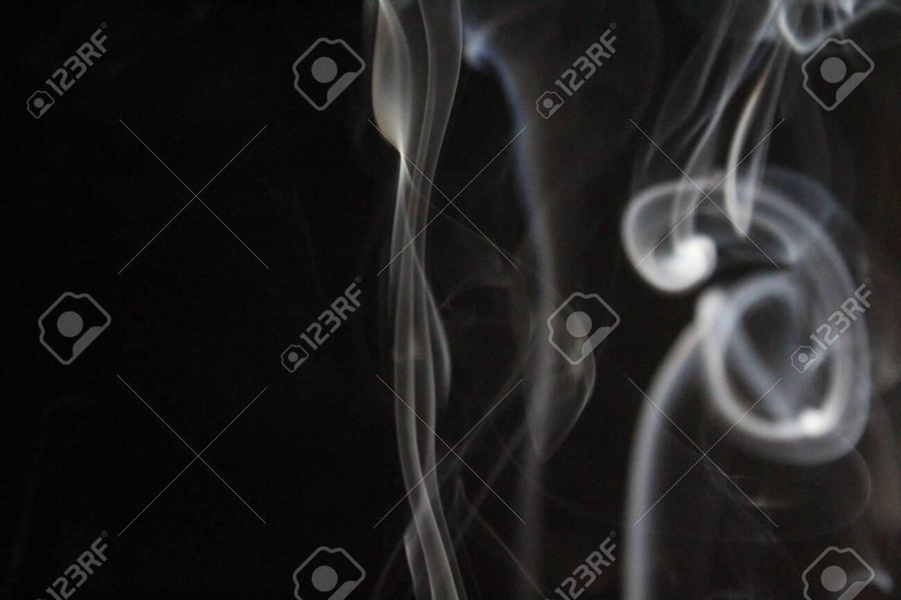 Aroma incense smoke ethereal odor slight figure - 143771518