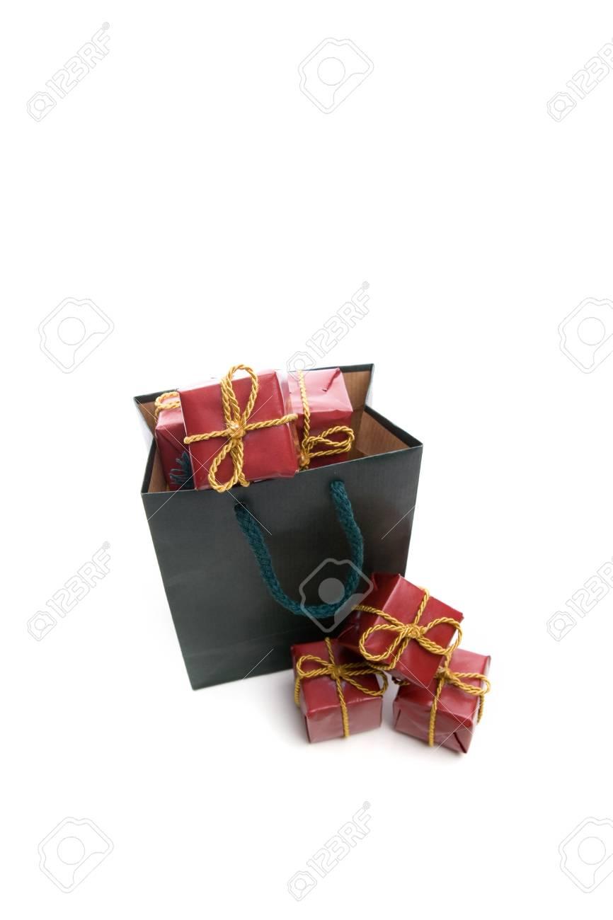 Llena De Bolsa Pequeñas De Aisladas Regalo Navidad Cuadro Verde De CWn5nxgH