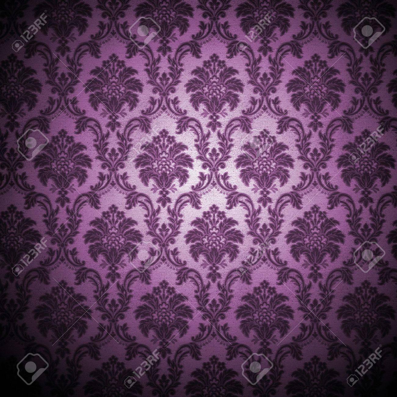 grunge retro wallpaper background - square format Stock Photo - 4509954