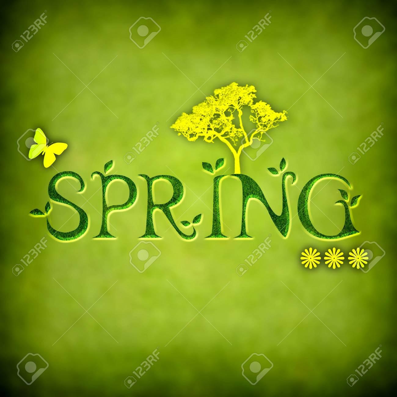 spring background illustration - square format Stock Illustration - 4601656