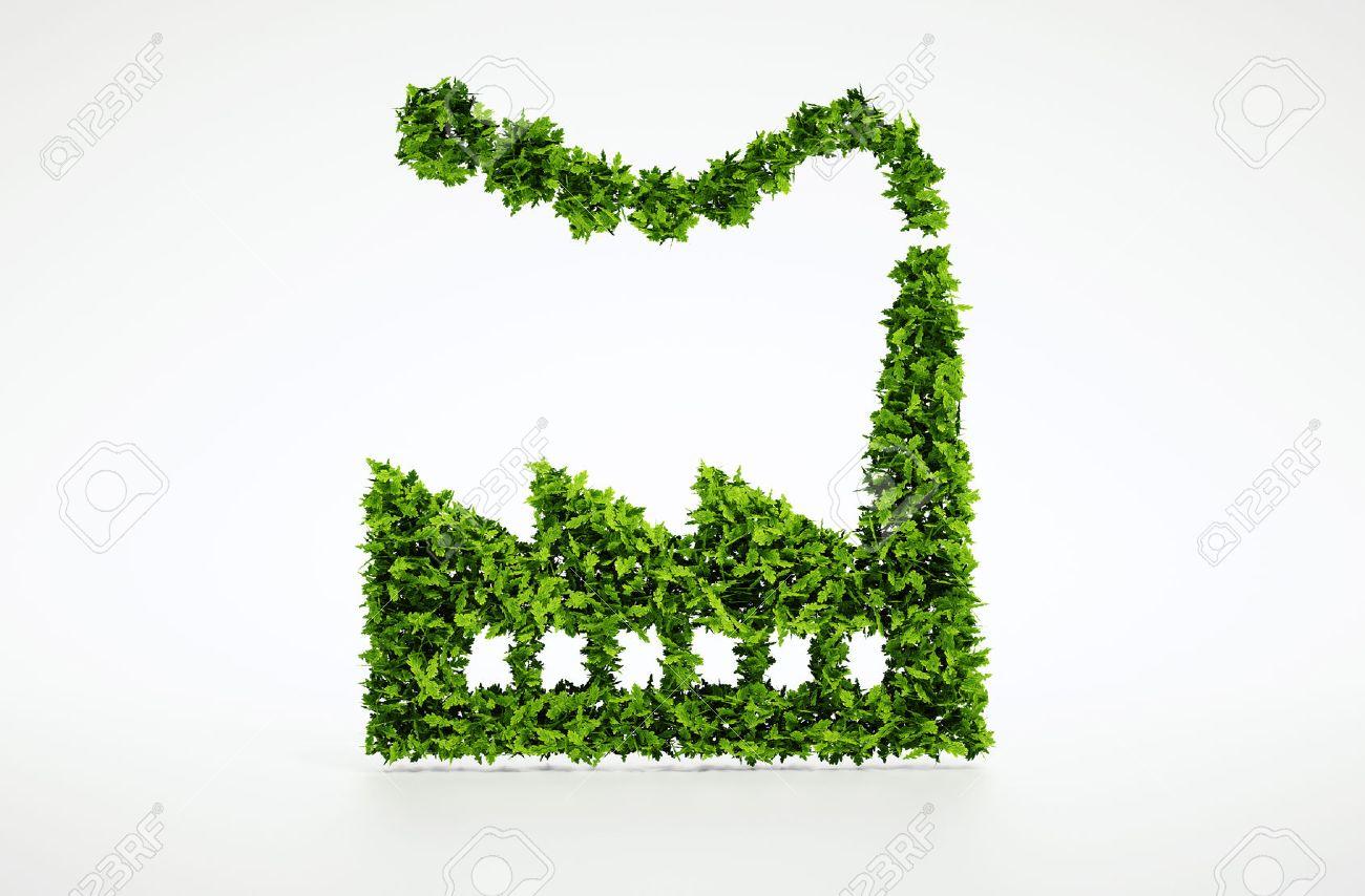 3d render Ecology industry symbol - 30700767