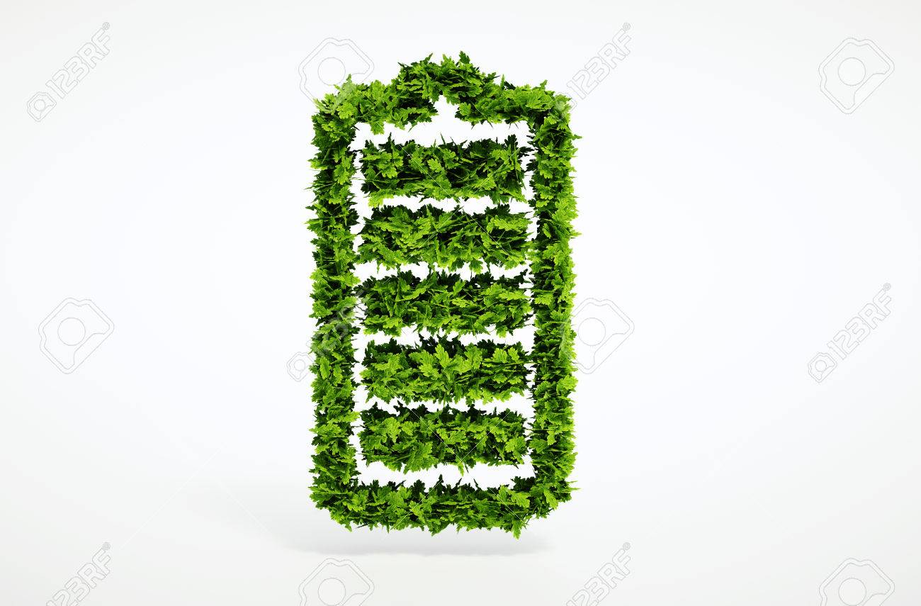 Isolated 3d render alternative ecology battery concept with white background - 32653060