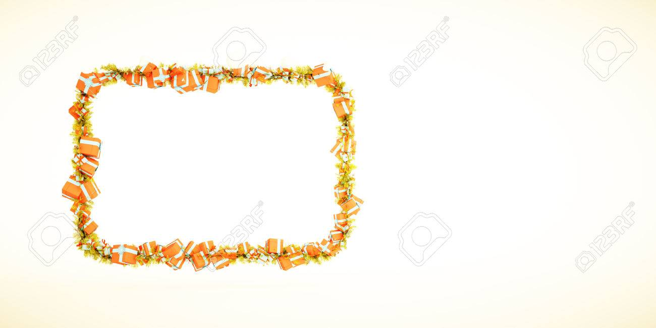 3d Xmas Greeting Card Template With Blank Text Field For Your