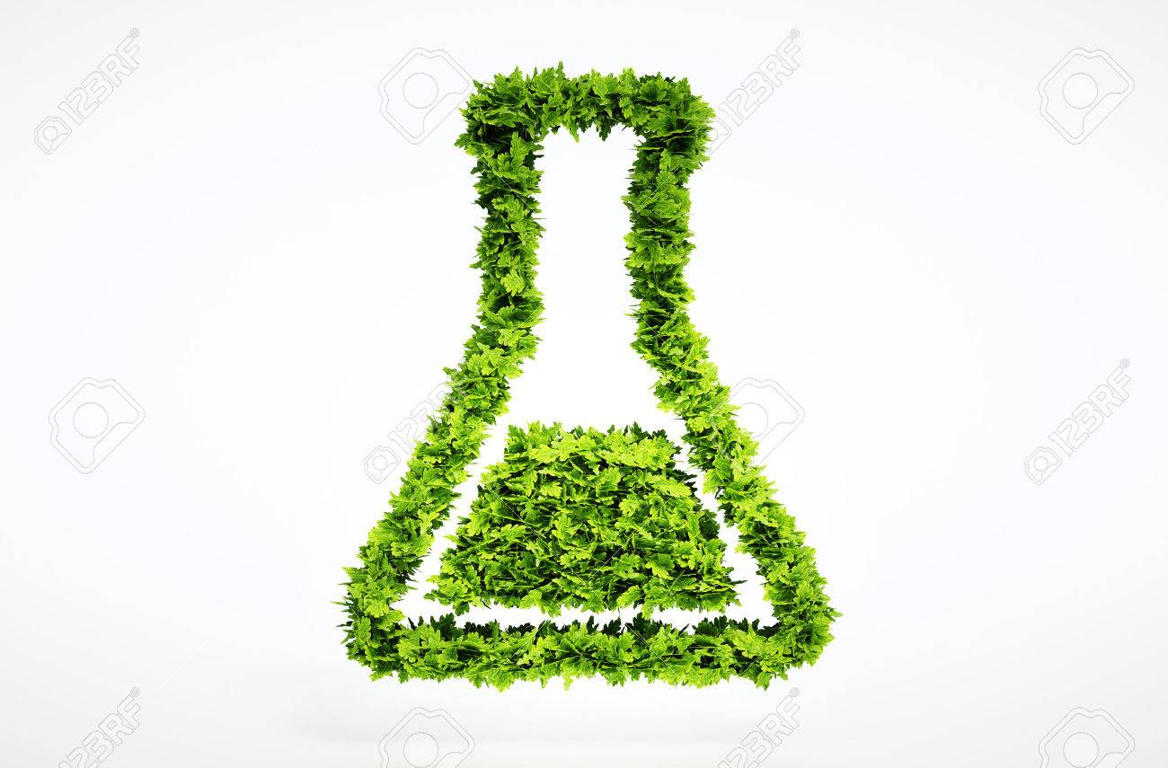 3d bio science sign. One of larger set of high quality ecology symbols. Check my ecology set. - 37885116