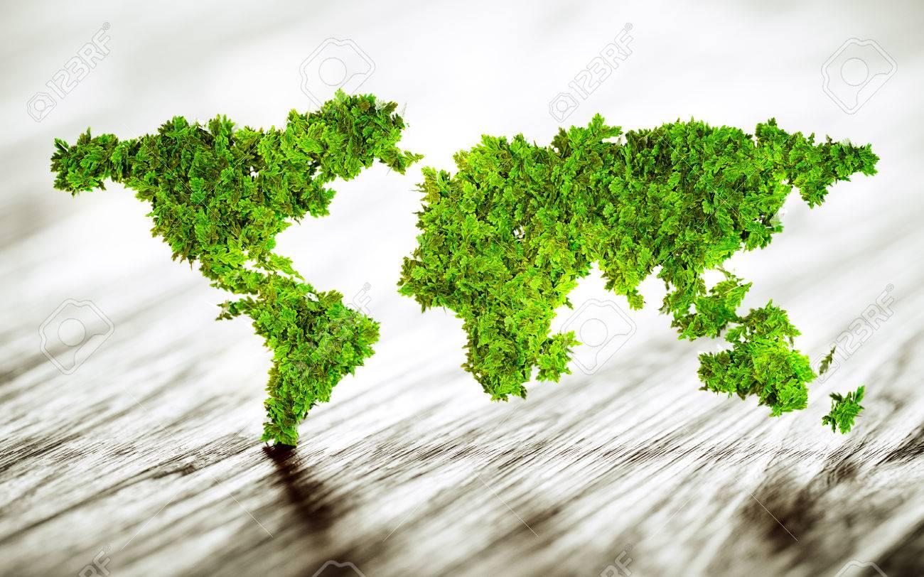 Sustainable world - 3d illustration - 56972932