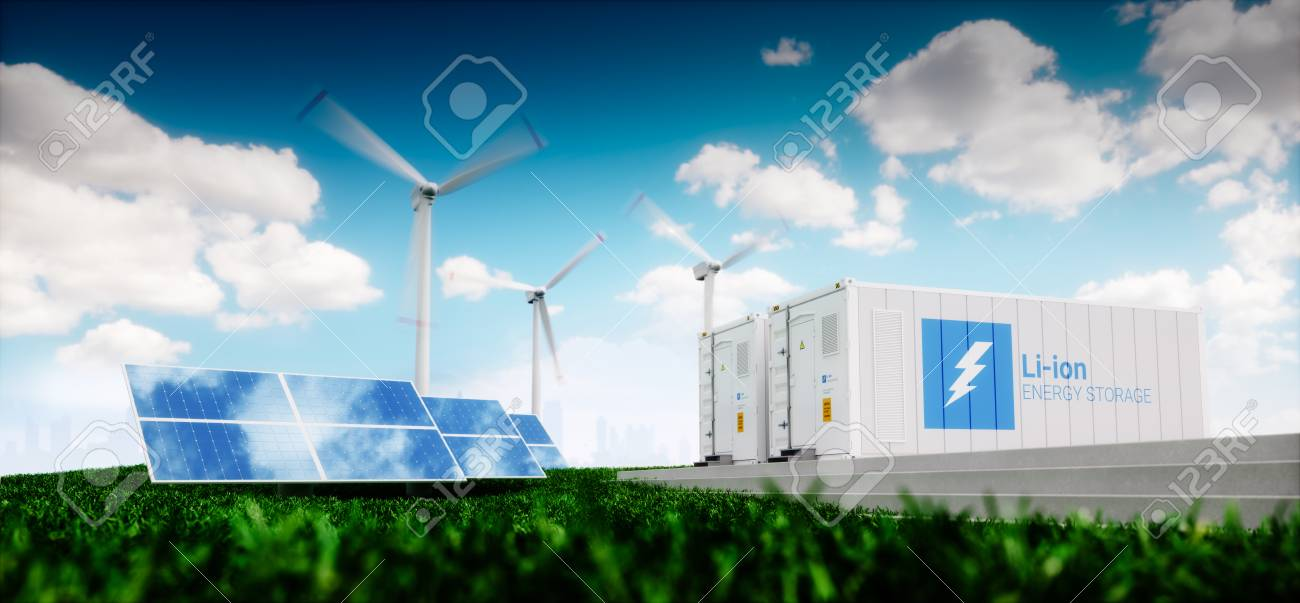 Concept of energy storage system. - 90758627