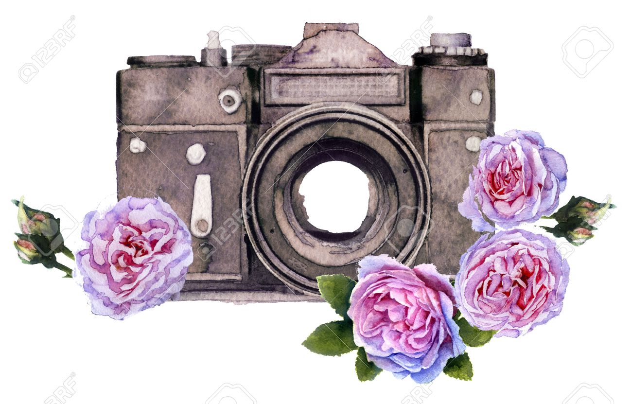 watercolor photo camera stock photos u0026 pictures royalty free