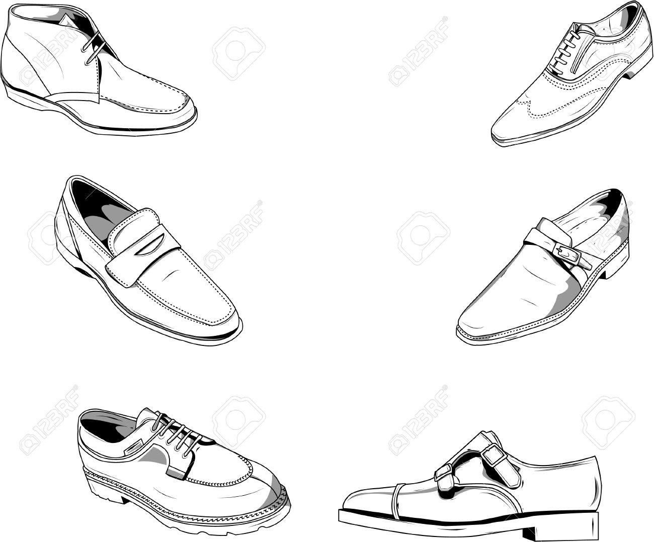 ファッションとデザインの他のタイプの良いベクトルの古典的な紳士靴のイラスト。別のレイヤー上のベクトルは、色を簡単に変更できます。
