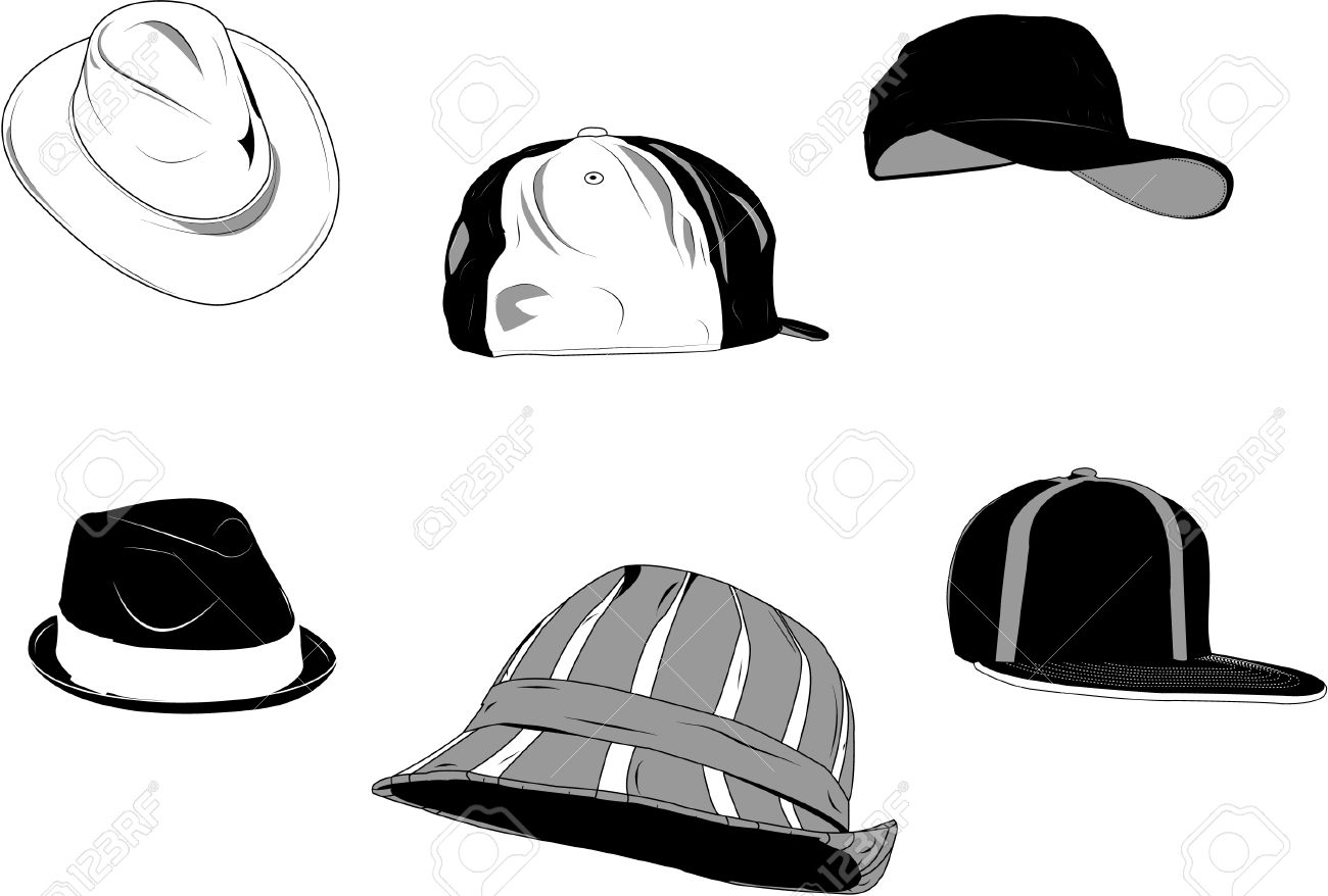 Set of several type of hats for men, new and old