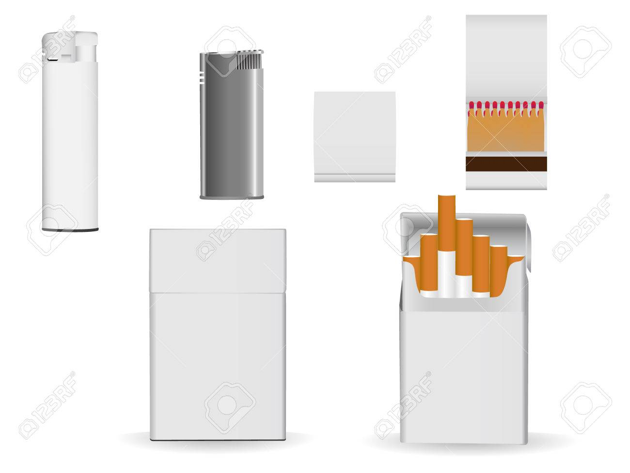 Set of corporate or business packaging objects for your own designs. Stock Vector - 5660789