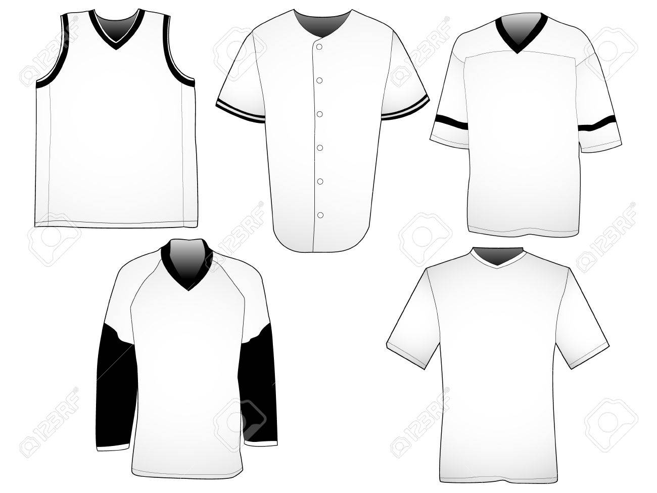 Design t shirts of your own - Design T Shirt By Own Set Of Five Jerseys From Different Sports Your Own Design