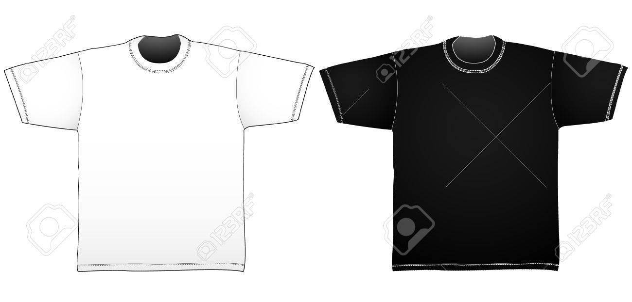White Collar T Shirt Template