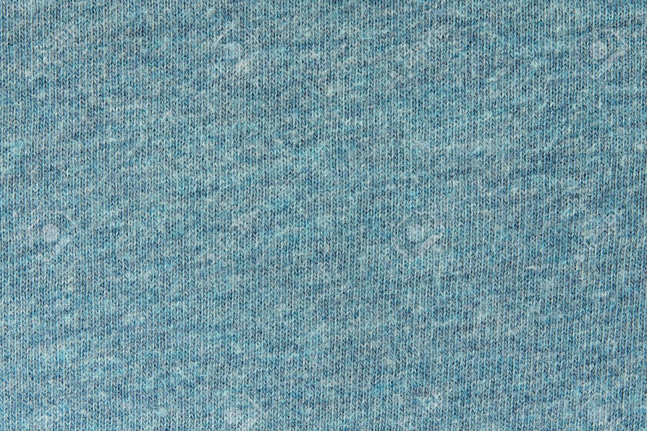 Texture Of Fabric From Jersey Of Gray-blue Color For A Background ...