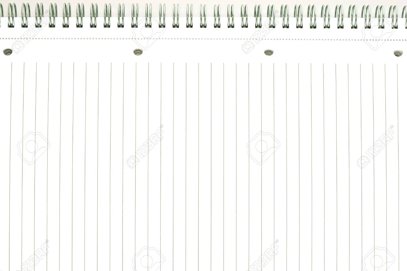 writing book or notebook leaf with lines for writing of the stock