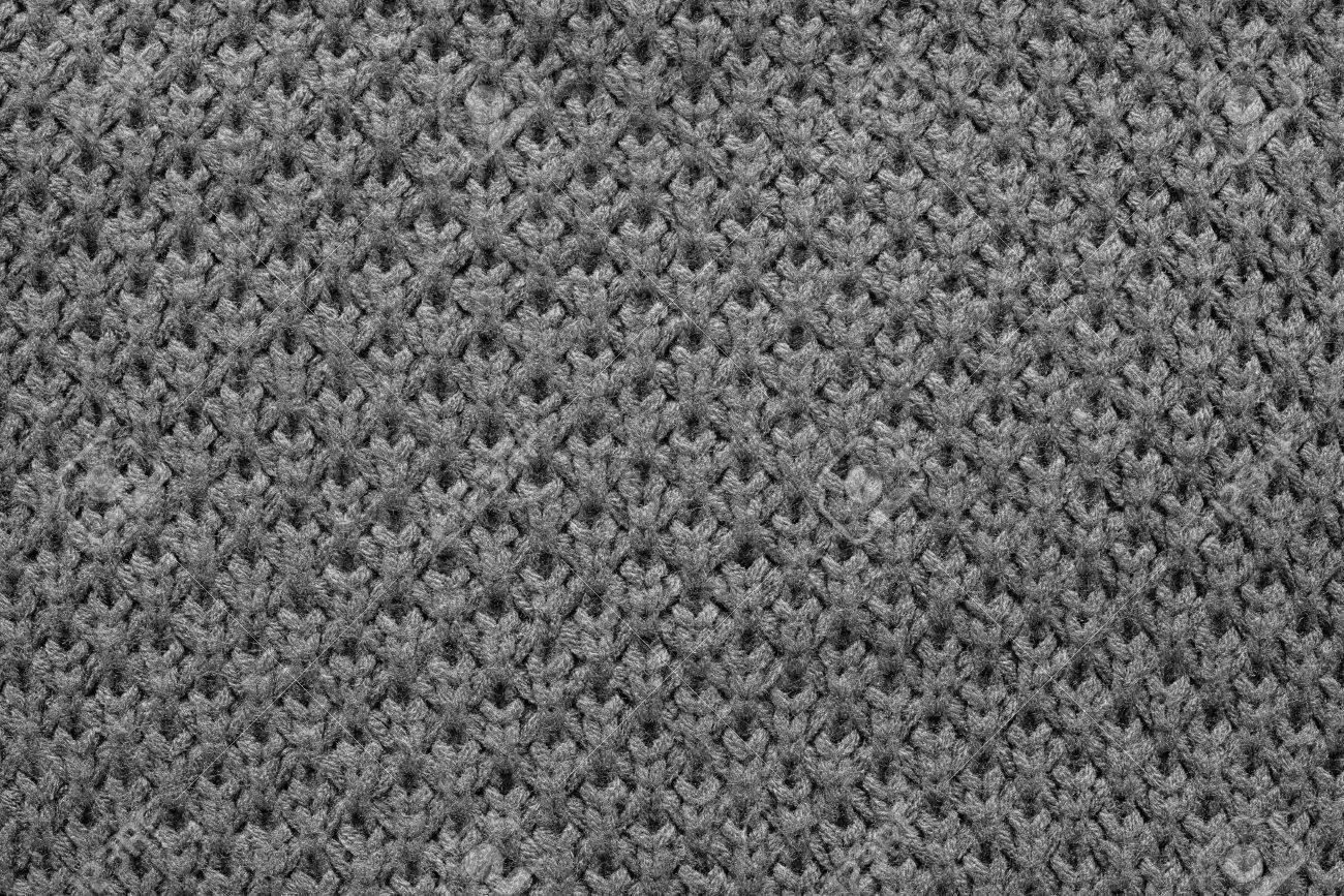 Abstract Knitted Honeycomb Texture Of Black Color From Synthetic ...