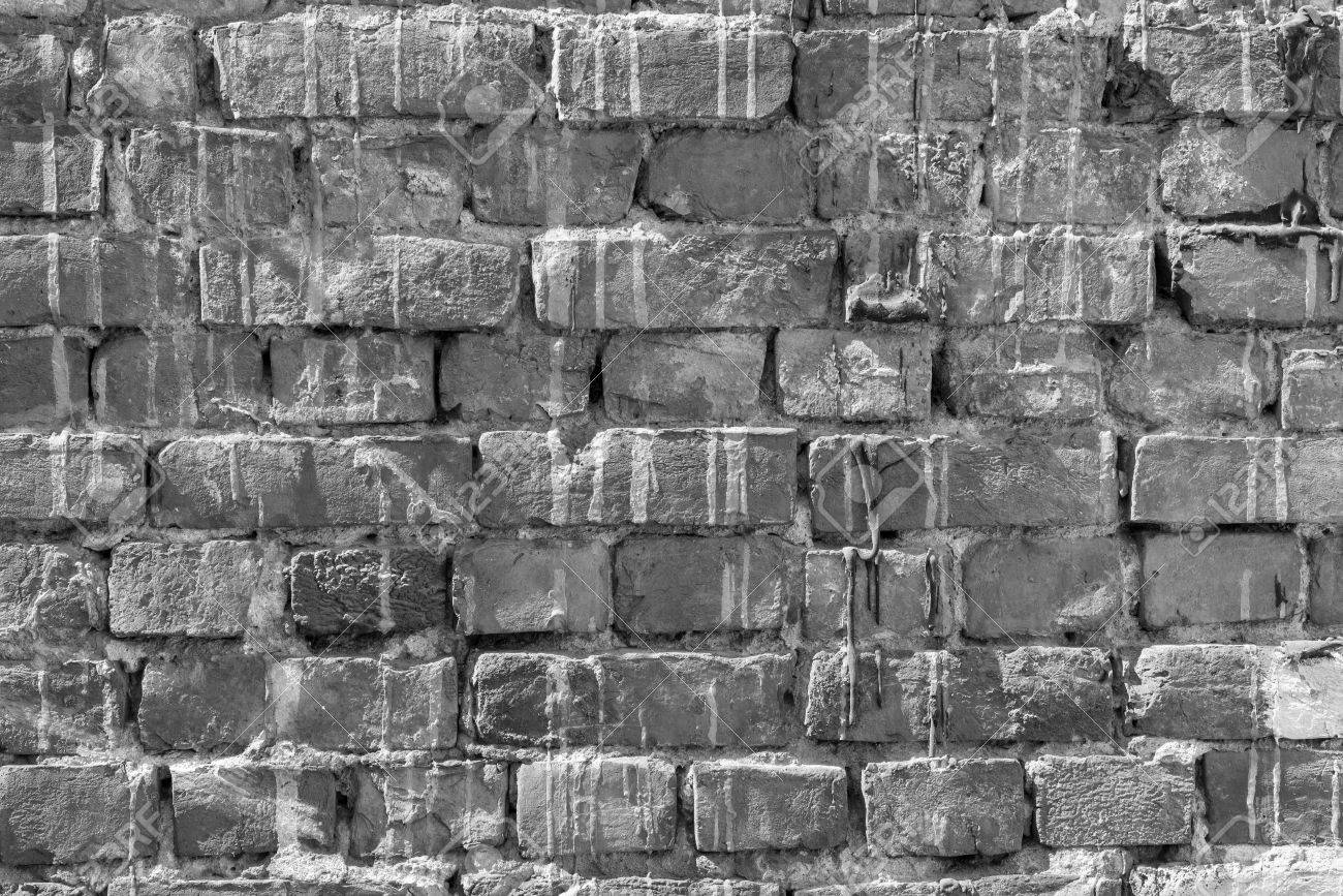 The Brick Textured Background Or Wallpaper Of Abstract Monochrome