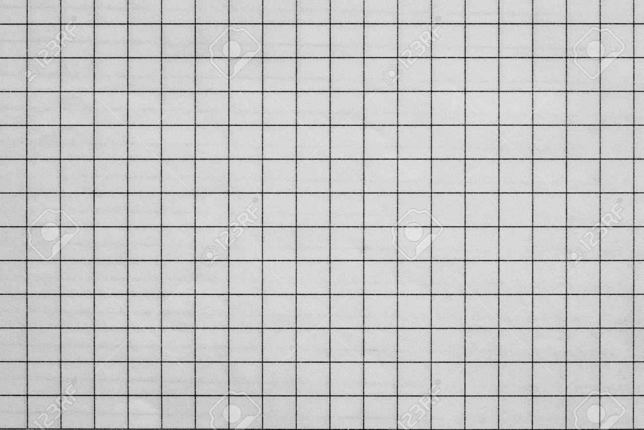 The Sheet Of Checkered Paper Of A Notebook For Arithmetics And