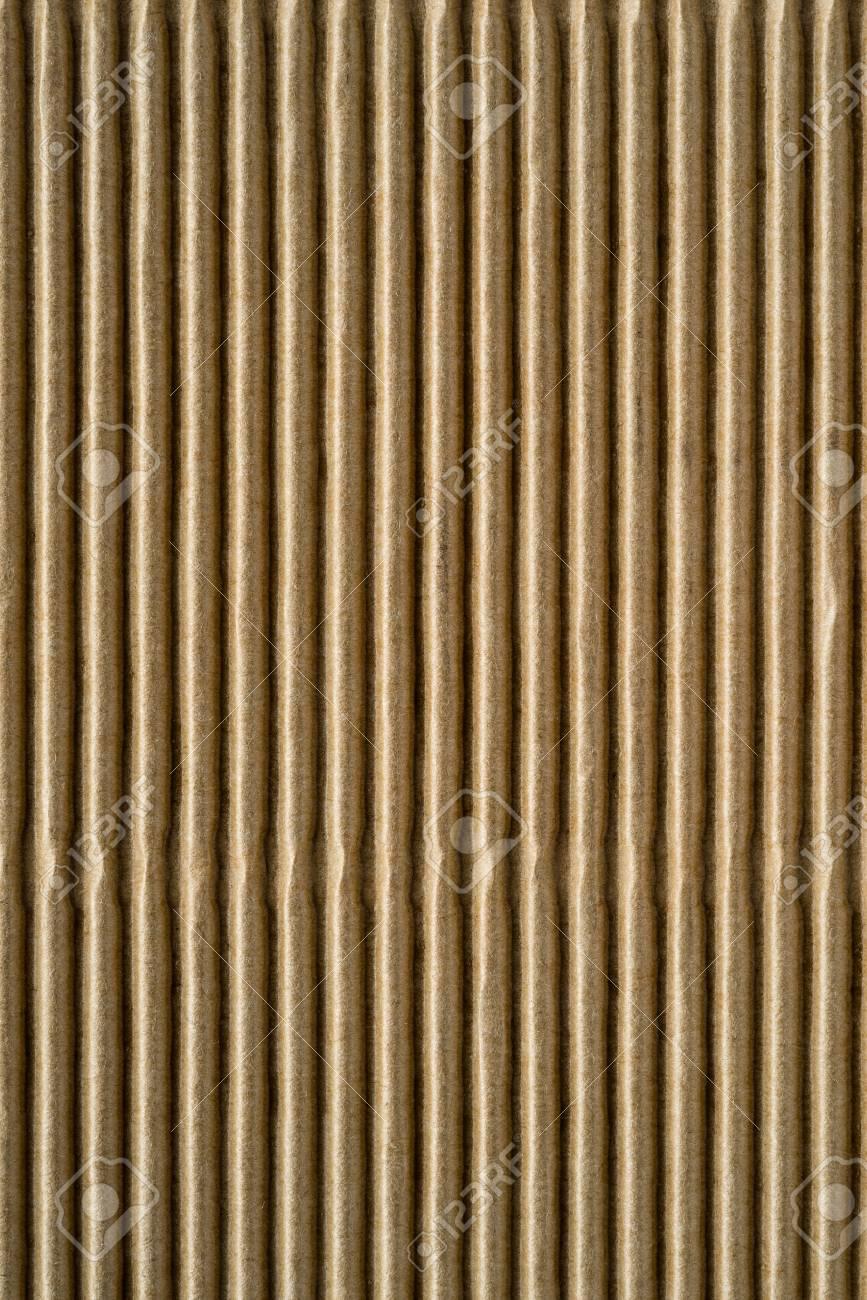 背景や壁紙のための茶色の色の段ボールや紙の波状の段ボールの質感 の写真素材 画像素材 Image