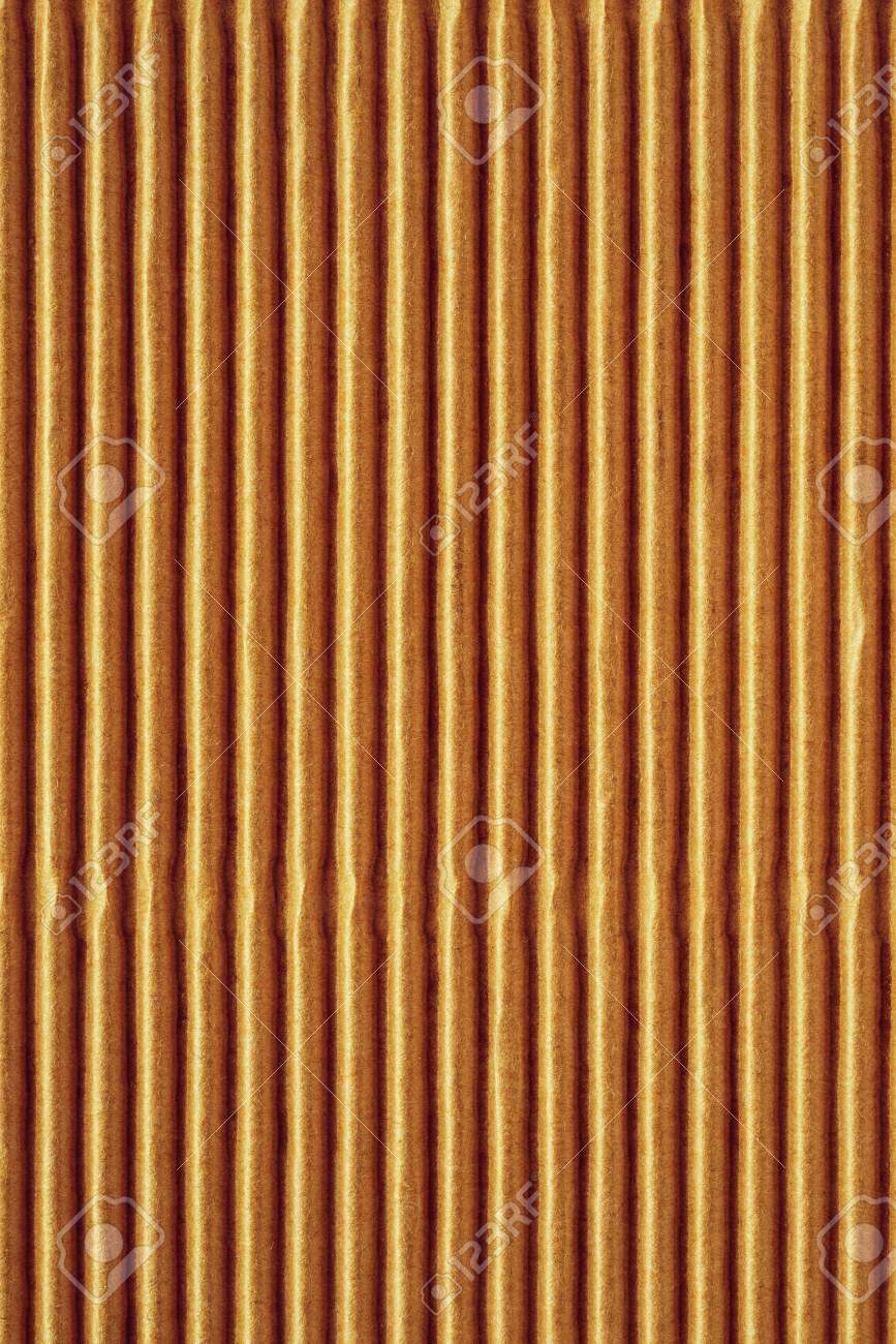 背景または壁紙のための黄色茶色の黄色の茶色の段ボールや紙の波状の波形のテクスチャ の写真素材 画像素材 Image