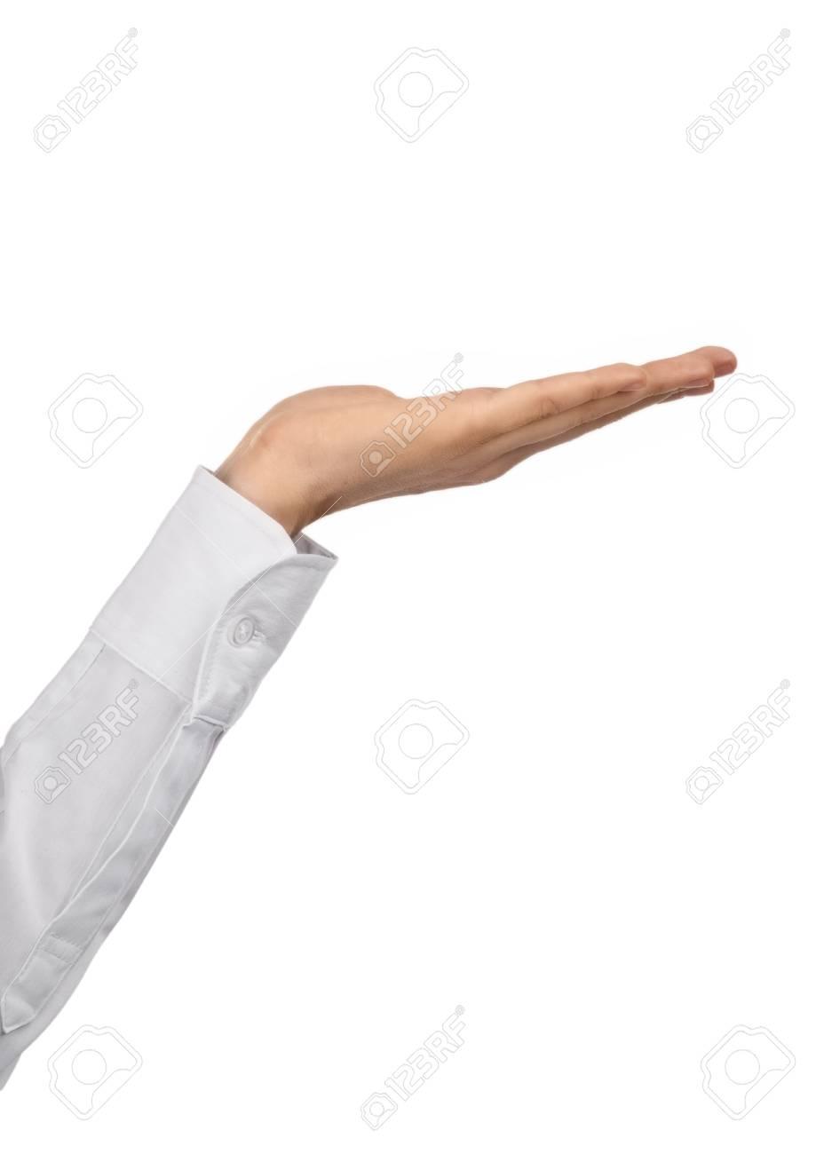 Empty female hand isolated on white background Stock Photo - 10855719
