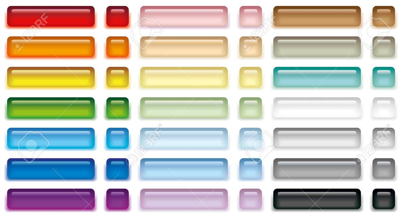 Vector illustration set of color web buttons - 23321686