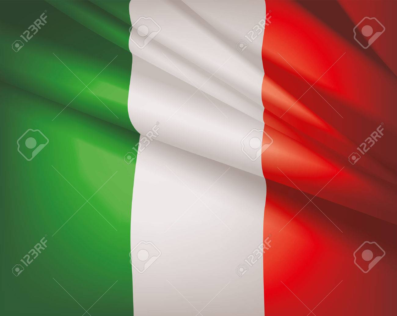 Waving flag of Italy, vector background - 28526371