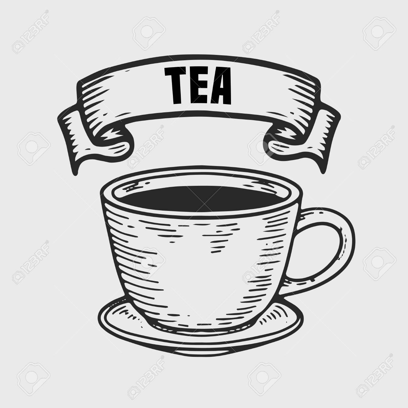 tea vector engraving label hand drawn engraved vector sketch royalty free cliparts vectors and stock illustration image 96673795 123rf com